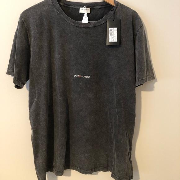 09b38478354 Saint Laurent Shirts | Paris Box Logo T Shirt | Poshmark
